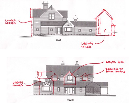 house plan alterations (side view)