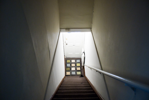 hallway leading up to the new space