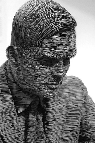 Statue of Alan Turing - Bletchley Park. Photo by Christopher Hawkins