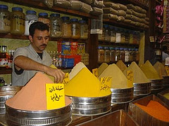 Spice merchant in downtown Amman