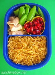 Snap pea bento lunch for preschooler