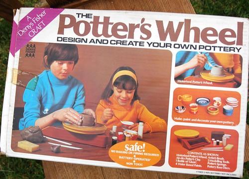 70s potter's wheel