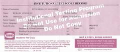 TOEFL(ITP)500
