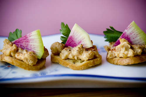 Chickpea Radish Hors d'Oeuvres