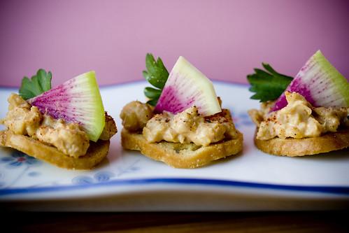Chickpea Radish Hors d'Oeuvres by teenytinyturkey.