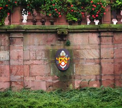 Aschaffenburg: Town Centre: Stiftsbasilika (Collegiate Church) St Peter & Alexander (bill barber) Tags: flowers plants flower art stone architecture plaque photoshop germany garden bayern deutschland bill arquitectura artwork sandstone arms pierre main craft william container pot german elements barber architektur alemania kraftwerk planter tyskland stein sandstein architettura bundesrepublik casanova germania alemanha windowbox kraft duitsland grs balustrade deutsche arkitektur aschaffenburg piedra rivercruise pilaster craftwork architectur lallemagne collegiatechurch spessart billbarber doitsu niemcy njemaka saksa nmetorszg arenisca njemacka  nemecko stiftsbasilika wdwbarber kreisfreiestadt stpeteralexander williambarber peterdeilmann bbarber1 mscasanova germnia enoughroom plantsneeds