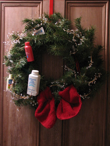 bathroom wreath