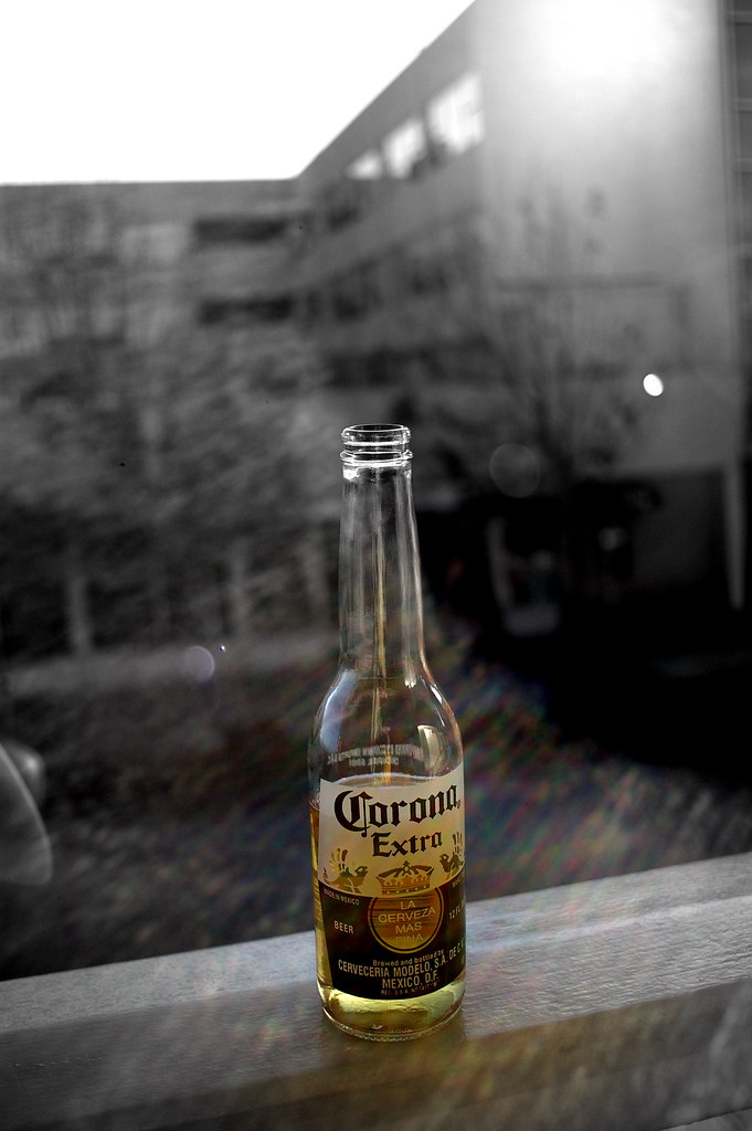 beer bottle with Cosina 24mm f/2.8 with 'A' and Pentax K10D
