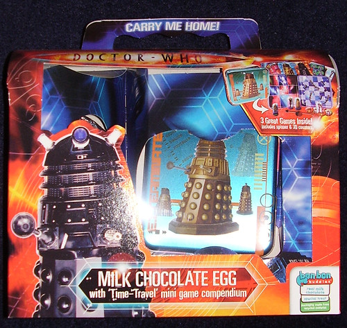DR WHO - Milk Chocolate Egg with Time~Travel Game