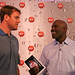 Carson Palmer with Terrell Davis at the G2 Lounge, a hot spot at the Super Bowl XLII