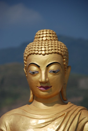 Buddha statue in Thachilek, Myanmar