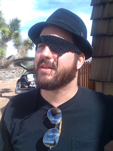 Nate in an eye patch