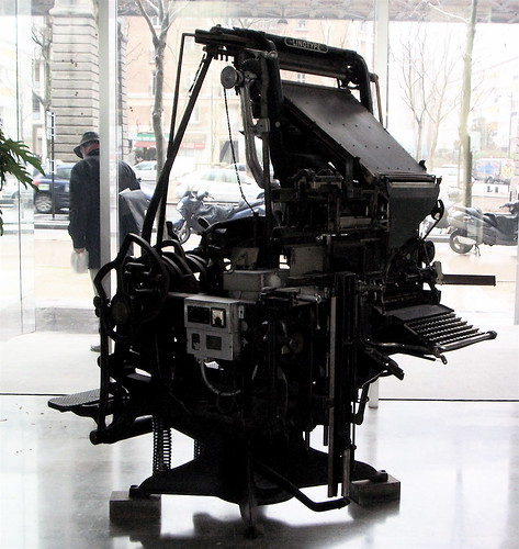 Linotype au journal Le Monde par luc legay