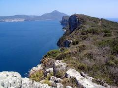 Sphacteria (diffendale) Tags: blue sea cliff seascape water landscape island greek bay sage greece trail shore pylos ionian peloponnese navarino peloponnesos messinia sphacteria messenia pleiades:depicts=570686