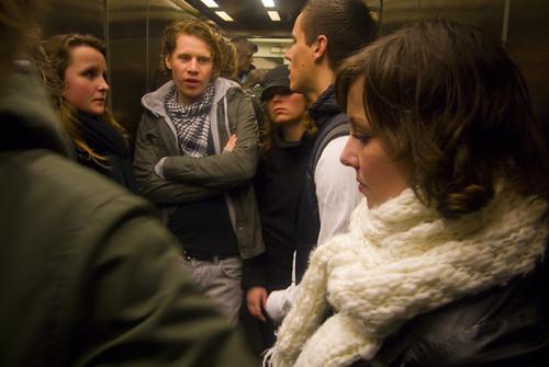 Resultado de imagem para elevator with people