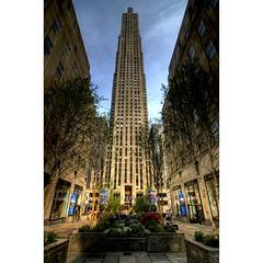 Rockefeller Center (sunsurfr) Tags: new york newyorkcity urban newyork building architecture buildings rockefellercenter center structure tall d200 rockefeller hdr photomatix sunsurfr
