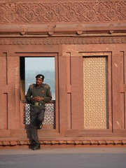 guard at Agra Fort (maximumcity) Tags: india fort guard agra doorway fortrouge agrafort lalqila palatialcity