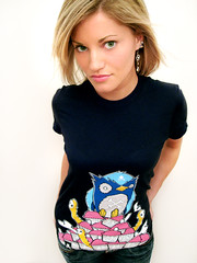 Johnny Cupcakes Shirt (ijustine) Tags: cupcakes navy owls johnnycupcakes djsteen ijustine