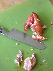 Chopped lobster
