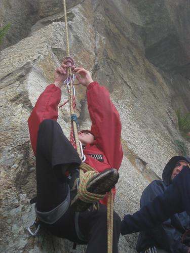 Marcella spiega la risalira della corda