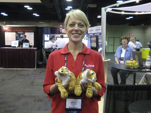 Jen with mibtree tigers
