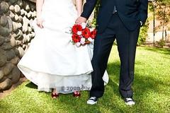 Coolness x 2 (Hvnly) Tags: wedding red roses grass alicia heels weddingdress omar tux chucks gerberadaisies coolness coolcouple pixoflife httppixoflifecom