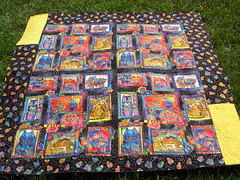 Laurel Burch quilt back