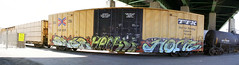 Baer • Hack • Home.jpg (ikeya 14•2•1) Tags: auto california railroad autostitch panorama streetart home train graffiti la pano graf spraypaint boxcar hack hobo railfan freight baer autostitched rxr autopano moniker stitchedpanorama hobotag autopanopro hobomoniker benching