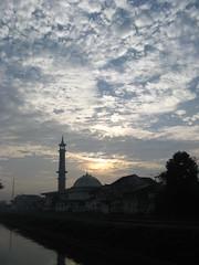 Masjid Jami' Darul Muttaqin, Balung of Jember (Ikhlasul Amal) Tags: sky cloud rural minaret mosque panoramic masjid  darul muttaqin