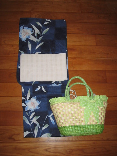 "Navy UNIQLO yukata coordinate - Mature/""Otonappoi"""