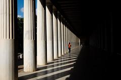 classical beauty (Kostas Katsouris) Tags: line lines classic classical kiones rythm ancient greece greek tempo shadow contrast fujifilm fuji xt10 athens black woman light leading sky ruins athenes temple ngc