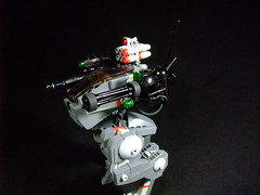 TRANSIENT Combat Mech (Crimson Wolf) Tags: urban dawn lego forge combat mecha mech