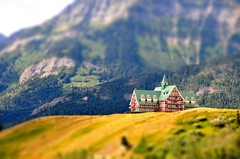 Prince of Wales hotel (tiltshift) (Northwest dad) Tags: park canada wales hotel nikon fake prince glacier national alberta vr waterton d300 tiltshift 18200mm