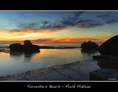 Forresters Beach Rock Plateau (The0dora Photography) Tags: red colour beach water sunrise coast rocks central sigma 1770 forresters dorcam17