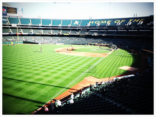 A's game  at Oakland.