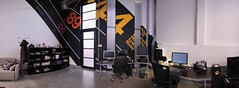 Room #3 (Official Classic) Tags: panorama color wall studio office hungary view pano budapest decoration 360 retro numbers helvetica postproduction branding gyr officialclassic