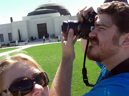 Being silly at Griffith Observatory