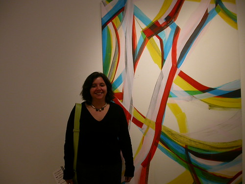 Rosanna Bruno with her painting
