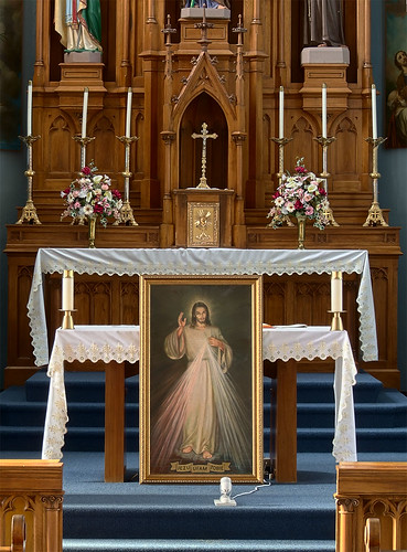 Saint Joseph Roman Catholic Church, in Chenoa, Illinois, USA - Divine Mercy.jpg