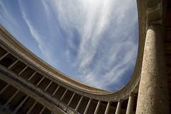 Palacio Carlos V (Antonio_Luis) Tags: light building architecture concrete granada