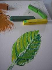 chalk pastel leaf