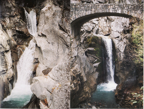 two views of one waterfall