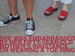 embarrassed (el diablo robotico) Tags: feet sneakers toering