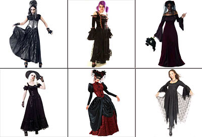 gothic outfit or halloween costume
