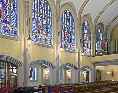 Saint Elizabeth, Mother of John the Baptist Roman Catholic Church in Saint Louis, Missouri, USA - view to side of nave