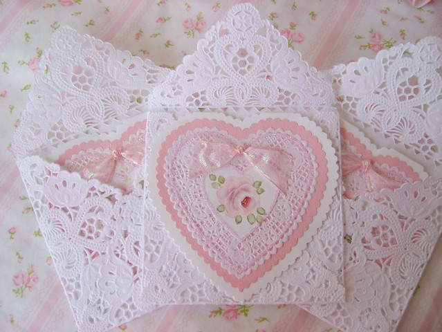Shabby Roses Valentine Heart cards