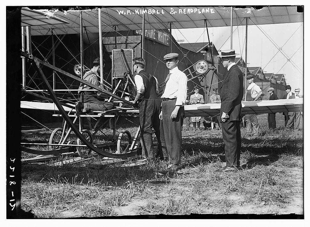 W.R. Kimball & aeroplane.