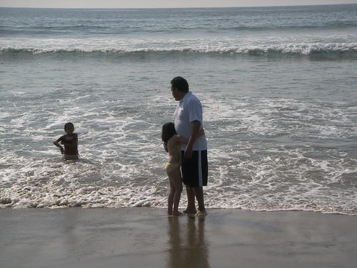 Karlita y yo en la playa