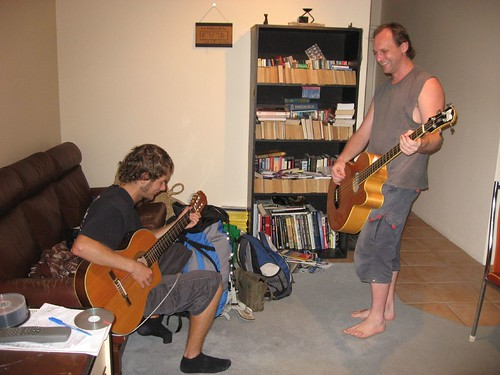 Jammin' - Chris (left) and Ben (right, host)