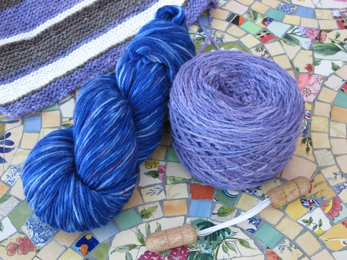 Hand Dyed Yarn Swap package